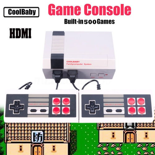 New Retro Family HDMI HD Classic NES Console TV Game 500 Built-in GamesHandheld + 2 Handle Controllers