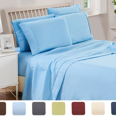 Lux Decor Collection - HIGHEST QUALITY Brushed Microfiber - 4 Piece 1800 Series