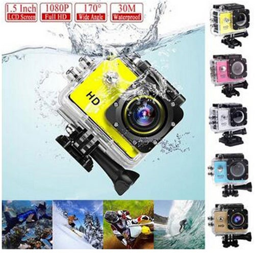 (Only Shipped to US)US STOCK 1x Waterproof Camera Helmet Diving Snorkeling Multiple Colors Sports DVR Resistant Awesome Quality Outdoor