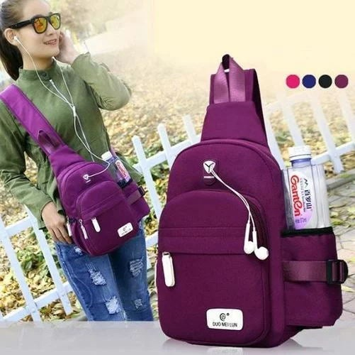 Fashion Men Women Outdoor Shoulder Bag Large Capacity Casual Travel Hiking Bag