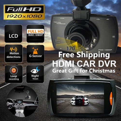Great Christmas Gift for Your Family and Friends!!! Car DVR Dash Camera Night Vision cam Vehicle Traveling Date Recorder Tachograph