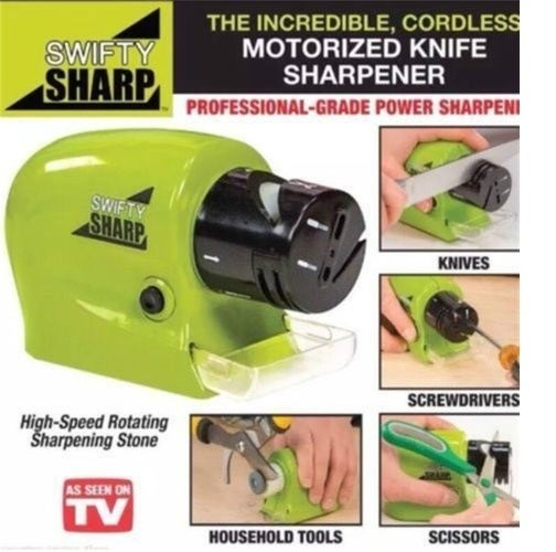 Home New Electric Blades Sharpener Razor Scissors Professional Motorized Screw Drivers Sharpening Tools (Size: Pack of 1, Color: Green)