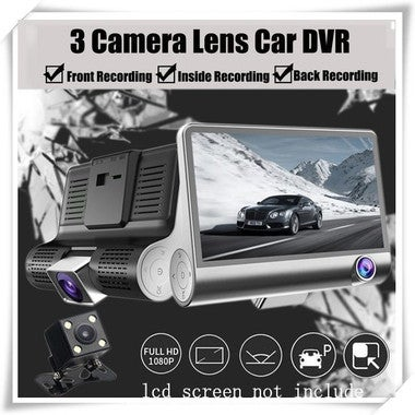 Waterproof 4 LED Night Vision Car CCD Rear View Camera Reverse Camera With 3 Gla