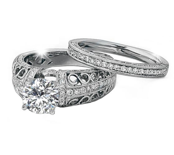 Gorgeous 18K WGP Infinity Ring Set #970