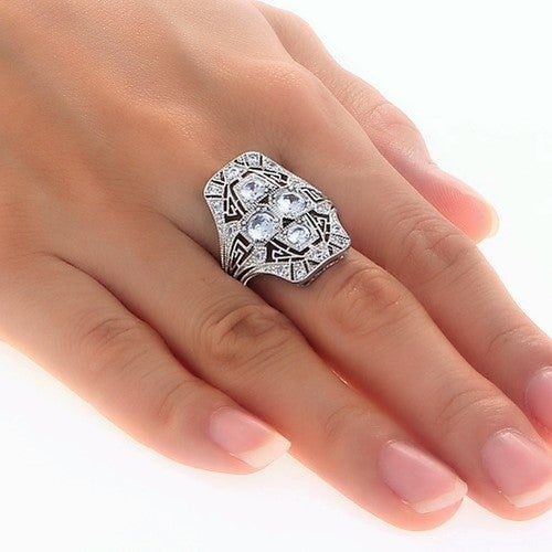 Vintage Inspired 2.85 Carat Ring 26x20mm By Diannes Designs