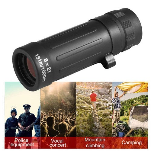 Compact 8*21 Monocular Telescope Handy Scope For Sports Camping Hunting