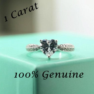 Jewerlry Brilliant Heart Shaped Cut 1Ct Ring
