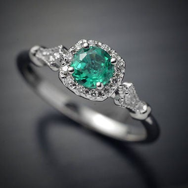 New Green Cubic Zircon Engagement Rings CZ Rings