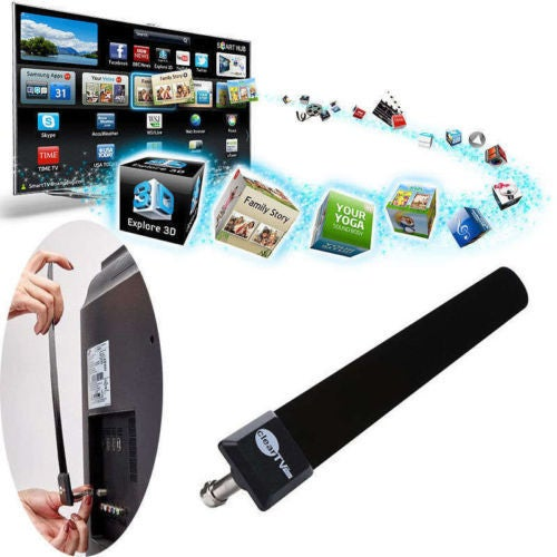 TOP Clear TV Key HDTV FREE TV Digital Indoor Antenna Ditch Cable As Seen on TV)