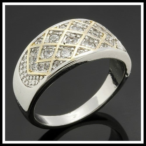 14k White Gold Filled, Beautifully Created Fine White Sapphire Ring SSIL8948