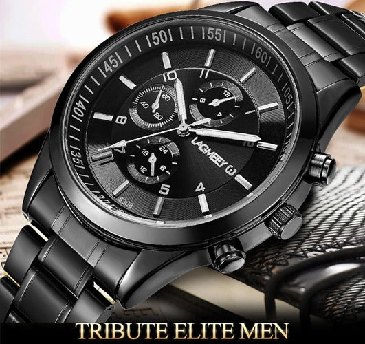 LAGMEEY Military Army Top Brand Luxury Sports Casual Mens Stainless Steel Wristwatch