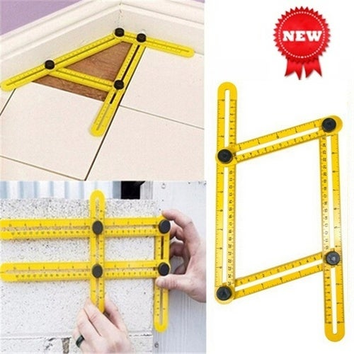 Multi-function Folding Woodworking Ruler Multi-angle Template Tool for Handyman Builders Craftsman