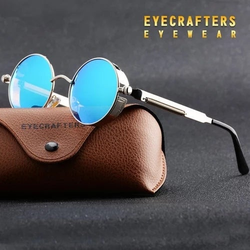 Classic Round Metal Sunglasses Steampunk Men Women F Tophatter