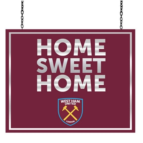 West Ham United FC Official Metal Home Sweet Home Sign