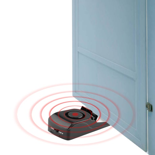 100 DB Door Stop Alarm System Security Home Wedge Shaped Door Stopper Alarm Block for Traveling Safety Tools