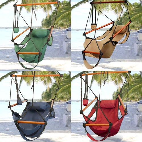 Hammock Hanging Chair Outdoor Swing Solid Wood