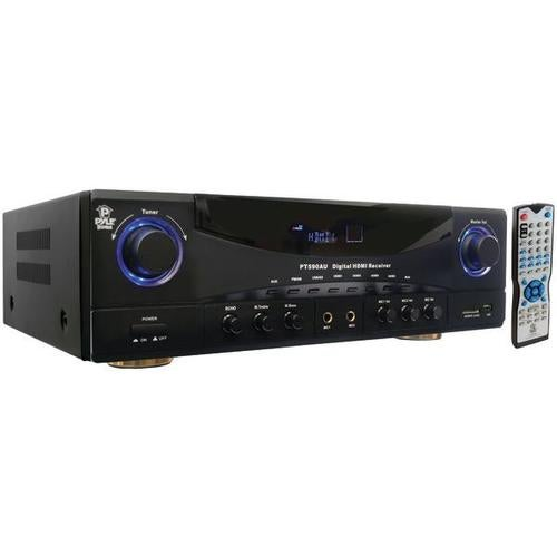 Pyle Home Pt590au 5.1-Channel, 350-Watt Amp Receiver With 3d Pass-Through