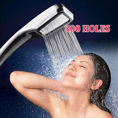 New Shower Head Rainfall Bathroom ABS chrome hand hold Shower Square High Pressu