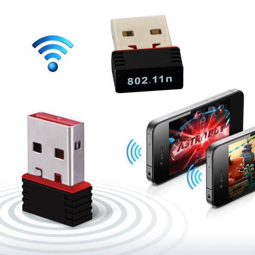 New 150Mbps Mini USB Wireless WiFi Network Receiver Card Adapter Transmitter For Desktop
