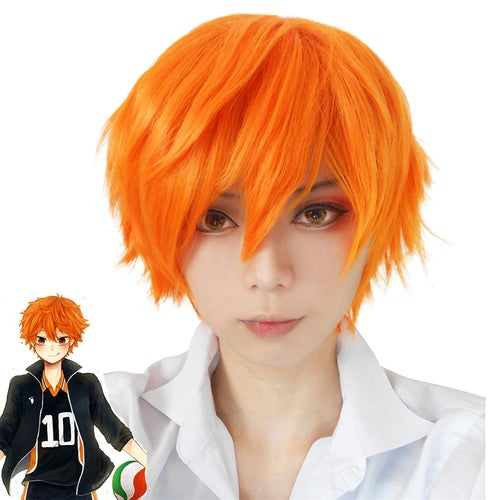 Nick Fox crazy animals city cosplay wig Japanese colleagues to Xiang Yang, volleyball juvenile orange anti-Alice short hair