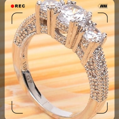 100% High Quality Womens Fashion Silver Engagement & Wedding CZ Ring