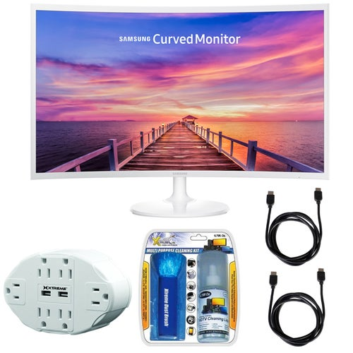 Samsung CF391 Series 32 LED Curved Monitor LC32F391FWNXZA w/ Accessories Bundle