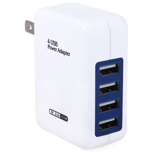 Wall Charger for Adapter 4 USB Ports US Plug Home Charging Travel