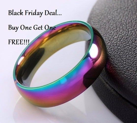 Black Friday Deall Buy one get one FREE!!! AAA CZ Full Circle High Polish Eternity Ring.  Size 6-13