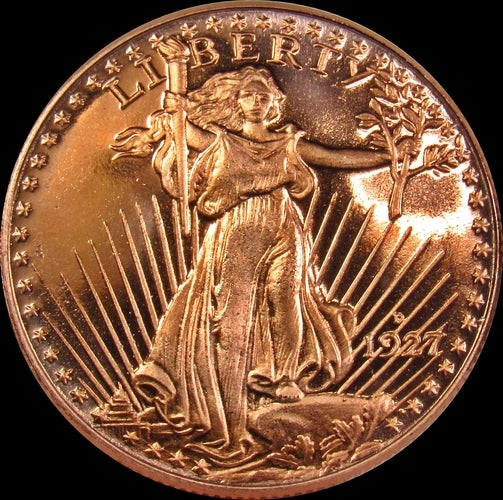 (1/4 oz) *Uncirculated* 1/4 oz .999 Fine Copper Bullion Round - ★ SAINT GAUDENS ★
