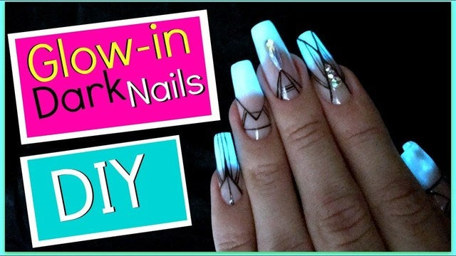 Image result for glow in the dark nail powder
