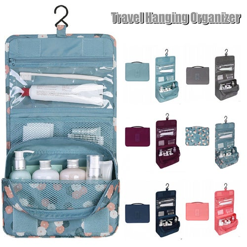97196a608728 Travel Hanging Waterproof Toiletry Makeup Storage Co...