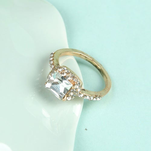 Beautiful Crystal Square Ring - 7 Size only