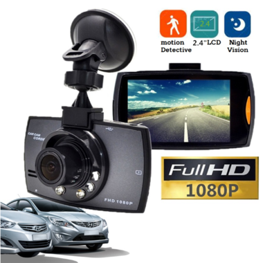 "Dash Cam Full HD 1080P 2.4"" Car Dvrs Car Camera Recorder with Motion Detect"
