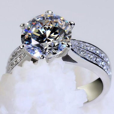 Brilliant Round Cut 4Ct Ring