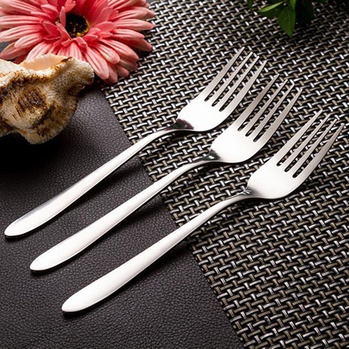 3pcs Thick stainless steel fork main fork of stainless steel fork fork Western