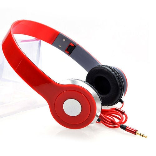 Head Stereo Dj Headphone 3.5 Mm for Pc Tablet Music Video & All Other Music Players.. (Red)
