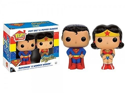Dc - Superman & Wonder Woman Salt N Pepper Shakers
