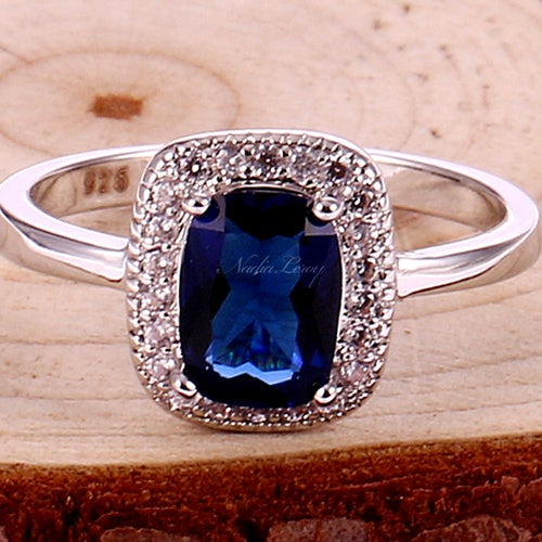 Amazing Sapphire Sterling Silver 925 Ring