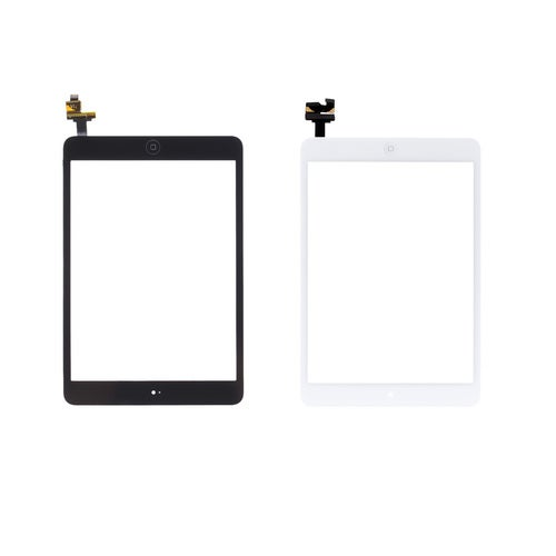 Outer G + G Capacitive Touch Screen Multi-touch Digitizer Replacement Assembly with IC Connector Flex Home Button for iPad mini 1 2