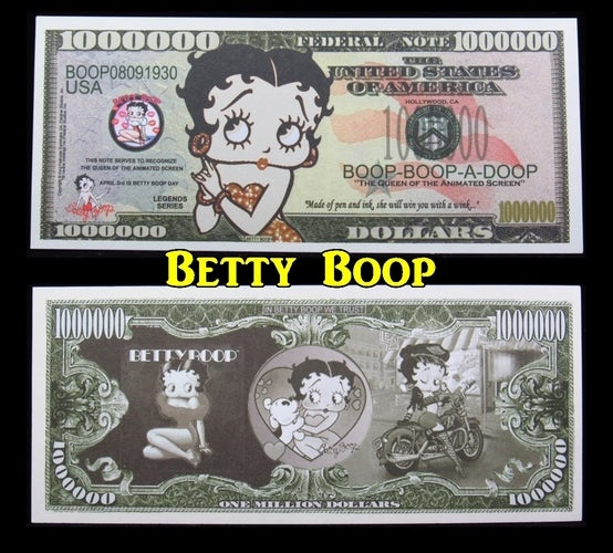 Betty Boop  $1 Million Dollar Collectible Note -  Great gift idea!!!!