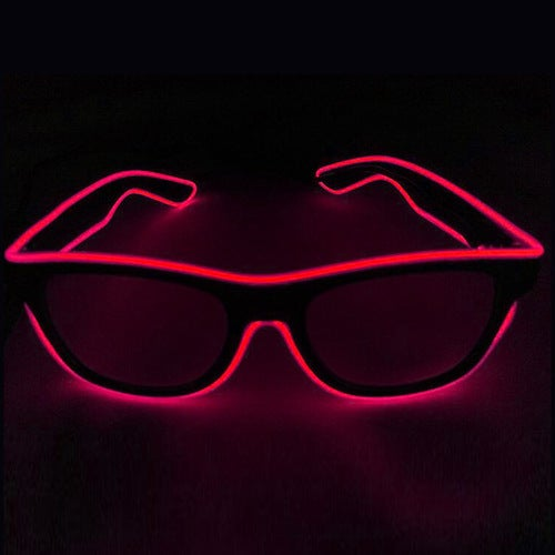 Wire Neon LED Glasses Light Up Shutter Shaped Glow Rave...