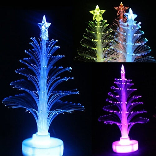 2016 New Hot Sale Colorful Christmas Tree Ice Crystal Colorful LED Xmas Lamp Light Night Home Decoration Gifts Tree CMB (Size: 1PCS)