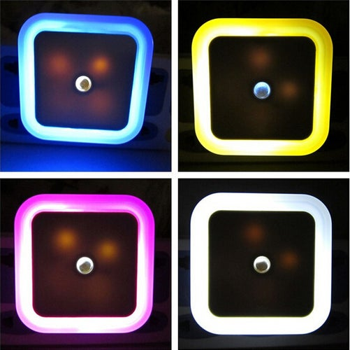 1 pcs Bedside LED Light Sensor Control Bedroom Auto EU Decor Wall Lamp US Night Light