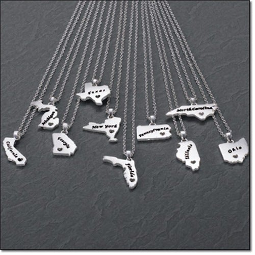 Home State Necklace Pennsylvania