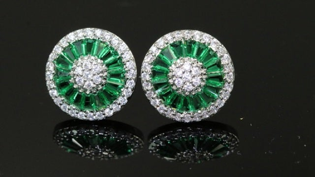 2017 New Edition To Alpha Jewelry!!!! Perfect Quality, Stunning & Very Shiny, AAA Italian Zircon. White Gold Filled Studs Earrings For Women!!!