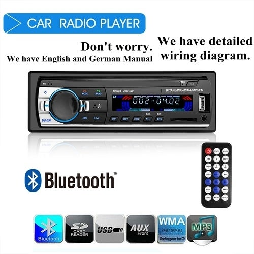 bluetooth car stereo audio in dash fm mp3 radio play tophatter rh tophatter com Sony Car Speakers Sony Car Speakers