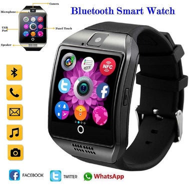 Bluetooth Smart Wrist Watch SIM GSM Phone Health Mate For Android IOS