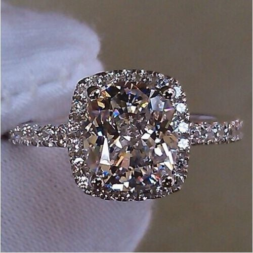 Jewelry A04 18K White Gold Plated CZ Ring