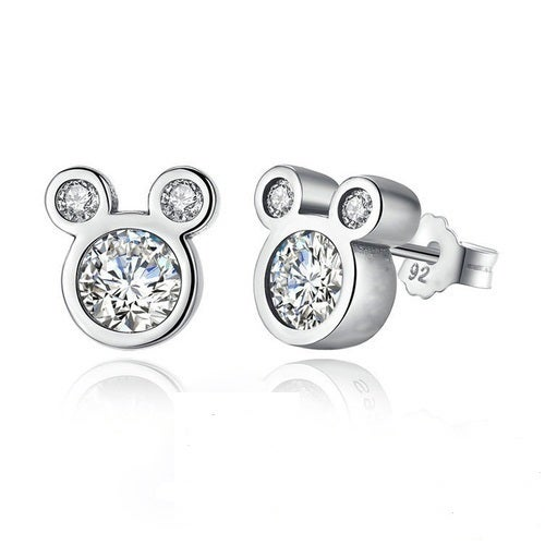 Hot Cute Dazzling Mouse Stud Earrings For Women Girl Authentic Original Jewelry Gift