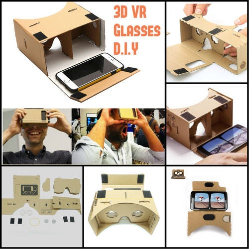 CLEAR Google Cardboard 3D VR Glasses Virtual Reality Box Goggles 3D VR Box DIY
